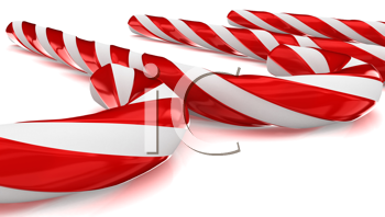 Royalty Free Clipart Image of Candy Canes