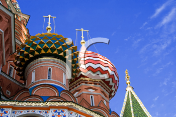 fragment of st.Basil cathedral, Moscow, Russia