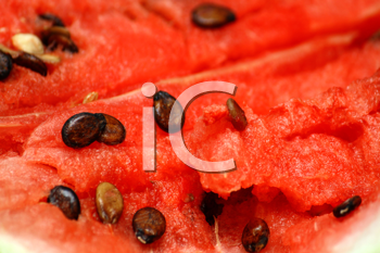 close-up of ripe fresh watermelon background