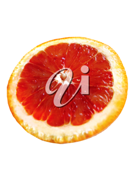 cut red orange isolated on white