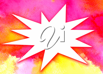 Watercolor bright abstract background with space for text