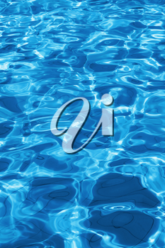 Water ripple in the swimming pool