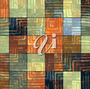 Abstract bright color square mosaic pattern