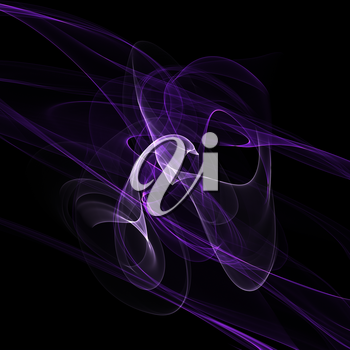 Abstract lilac fume shapes on black background