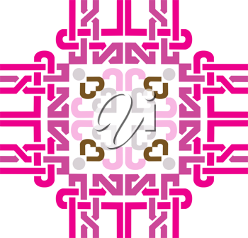 Royalty Free Clipart Image of a Pink Design