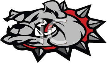 Royalty Free Clipart Image of a Bulldog Head