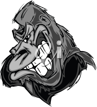 Royalty Free Clipart Image of a Gorilla