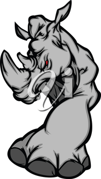 Vector Image of Rhinoceros Mascot Image