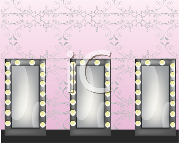 Royalty Free Clipart Image of Mirrors