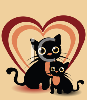 Royalty Free Clipart Image of a Cats Background