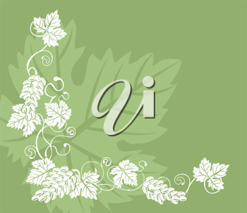 Royalty Free Clipart Image of a Grape Vine Design