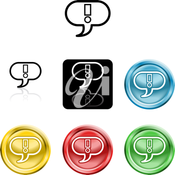 Royalty Free Clipart Image of Exclamation Icons