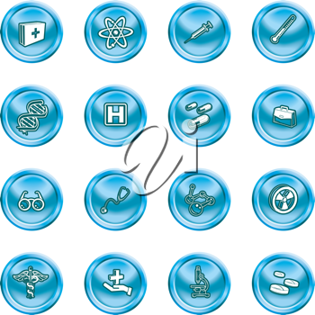 Royalty Free Clipart Image of Medical and Scientific Icons