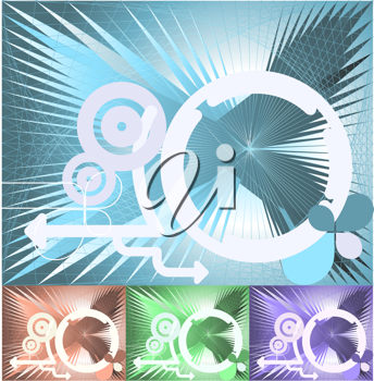Royalty Free Clipart Image of an Abstract Conceptual Technology Background
