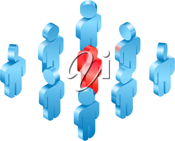 Royalty Free Clipart Image of a Group of People