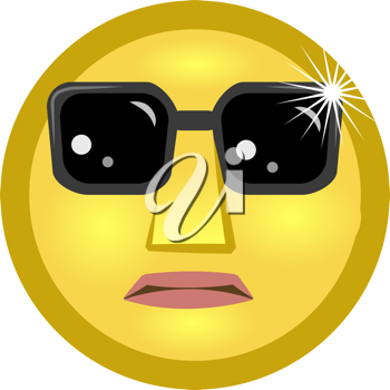 Royalty Free Clipart Image of an Emoticon