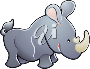 Royalty Free Clipart Image of a Rhinoceros