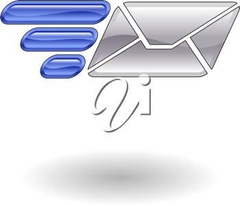 Royalty Free Clipart Image of Illustration of Fast Mail