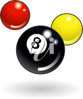 Royalty Free Clipart Image of Pool Balls