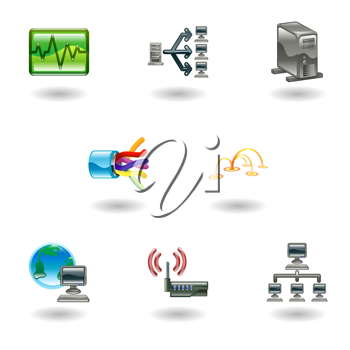 Royalty Free Clipart Image of Computer Icons