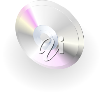 Royalty Free Clipart Image of a CD Illustration