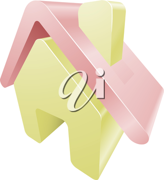 Illustration of house home icon clipart