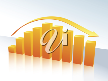 Royalty Free Clipart Image of a Bar Graph
