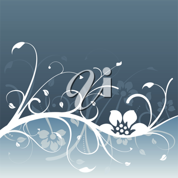 Royalty Free Clipart Image of a Background With an Ivy Flourish