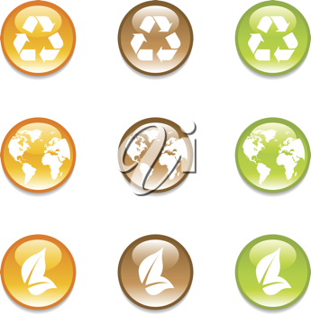 Royalty Free Clipart Image of Recycling Elements