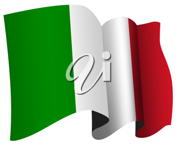 Royalty Free Clipart Image of an Italian Flag