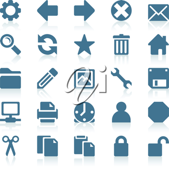Royalty Free Clipart Image of a Set of Web Icons