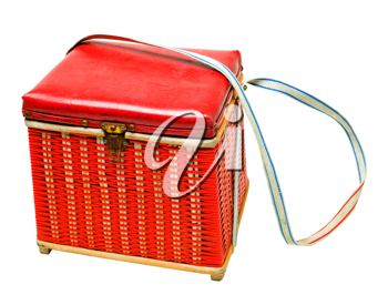 Royalty Free Photo of a Wicker Hamper with a Clasp