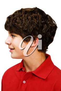 Royalty Free Photo of a Young Boys Profile