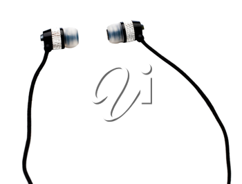Earbuds isolated over white