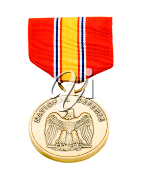 Medal of military isolated over white