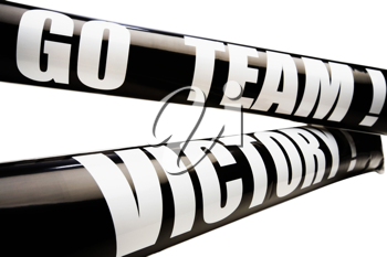 Text on black color thundersticks isolated over white