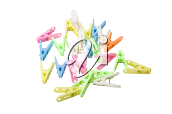 Close-up of colorful clothespins
