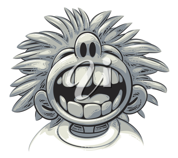 Royalty Free Clipart Image of a Boy With Big Teeth