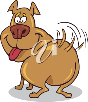 Royalty Free Clipart Image of a Happy Dog