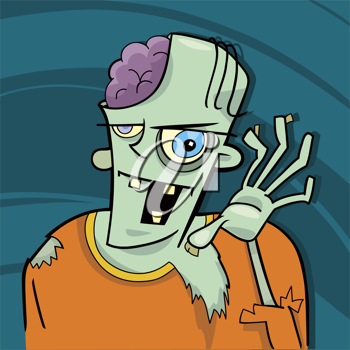 Royalty Free Clipart Image of a Zombie