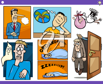 Royalty Free Clipart Image of Concepts and Metaphors
