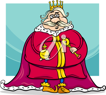 Royalty Free Clipart Image of a Fat King