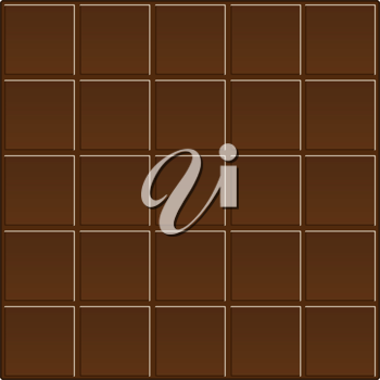 Royalty Free Clipart Image of a Chocolate Background