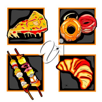 Royalty Free Photo of Halloween Food Icons