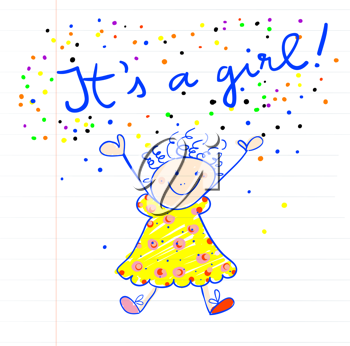 Royalty Free Photo of a Baby Arrival Announcement
