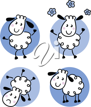 Royalty Free Clipart Image of Lambs