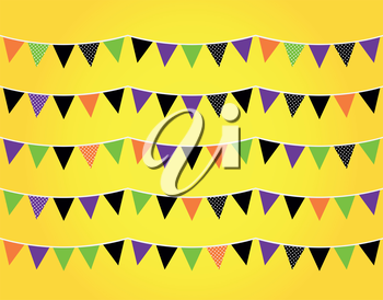 Colorful halloween bunting for your event! Vector