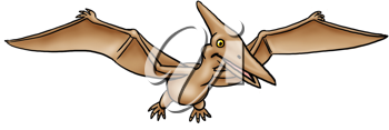 Royalty Free Clipart Image of a Pterodactyl