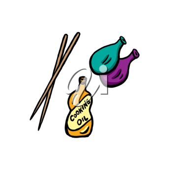 Royalty Free Clipart Image of a Cooking Items