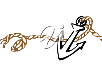 Royalty Free Clipart Image of an Anchor